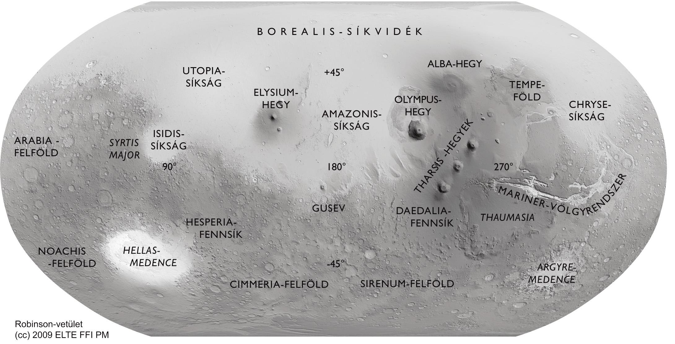 hold térkép PLANETOLÓGIAI TÉRKÉPEK bolygótérképek Mars térkép hold térkép