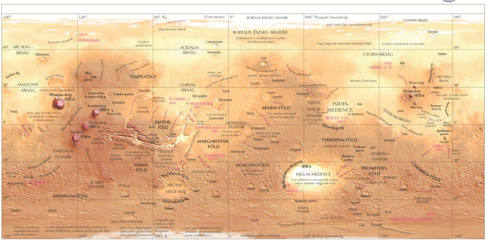 Topogr f 39 s Map of Mars